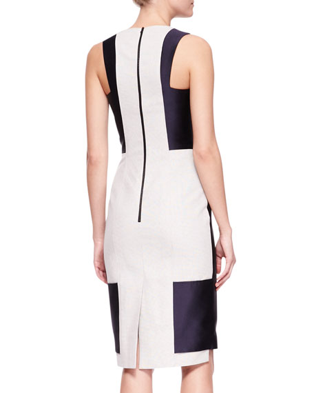 Sliced Sheath Dress with Panels