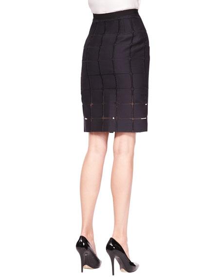 Straight Geometric Skirt