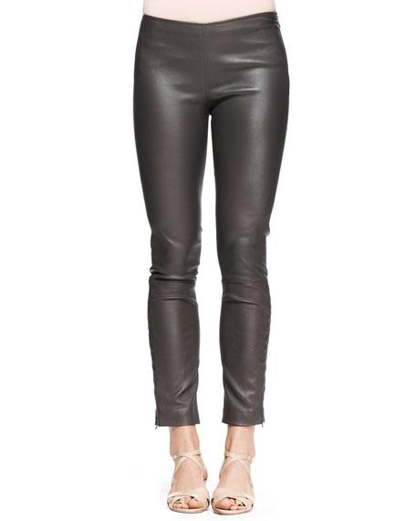 Jellerton Skinny Leather Ankle Pants