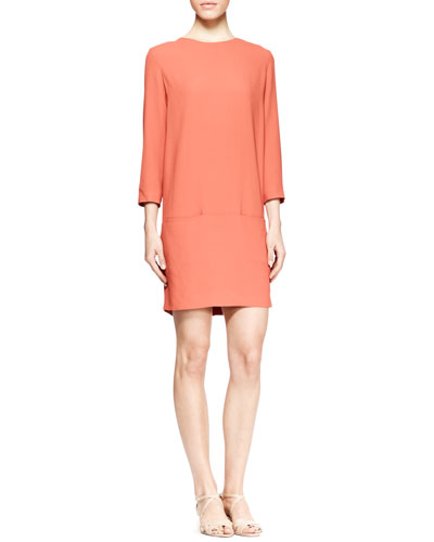 THE ROW Marinas Long-Sleeve Pocket Dress