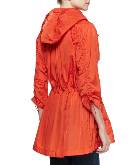 Nylon Hooded Zip Jacket, Orange
