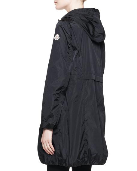 Long-Sleeve Long Zip Jacket, Navy