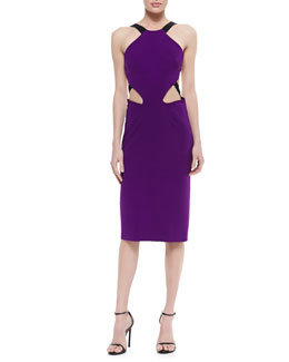 Cushnie et Ochs Power Viscose Cutout Dress