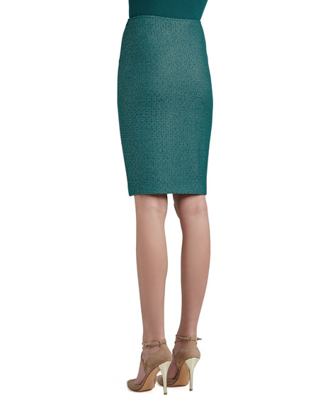 Space Dyed Tack Knit Pencil Skirt