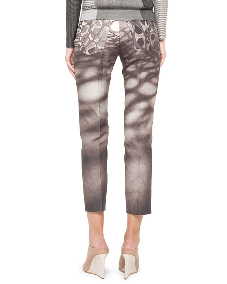 Honeycomb Slim Stretch Ankle Pants