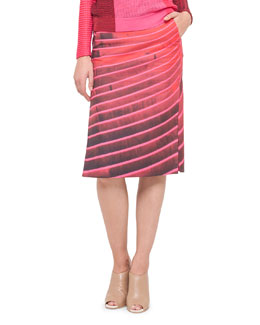 Akris Lines Side-Slit Pencil Skirt