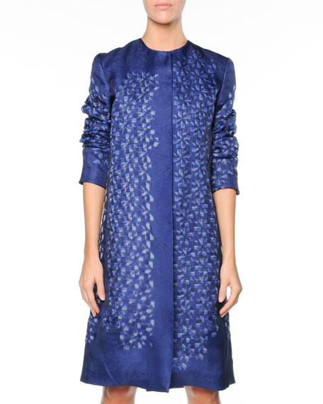 Kaleidoscope Organza Dress, Blue