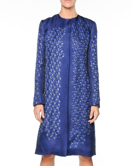 Kaleidoscope Organza Jacket, Blue