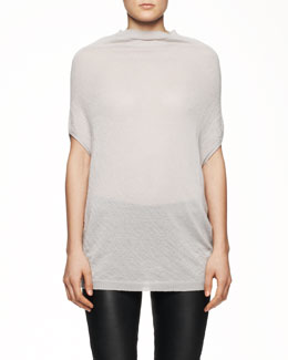 Rick Owens Short-Sleeve Crater Knit Sweater