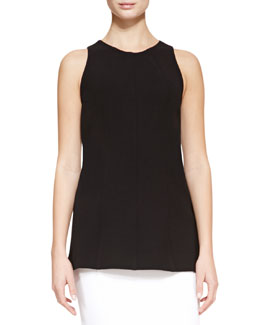 Lela Rose Seamed Tank, Black