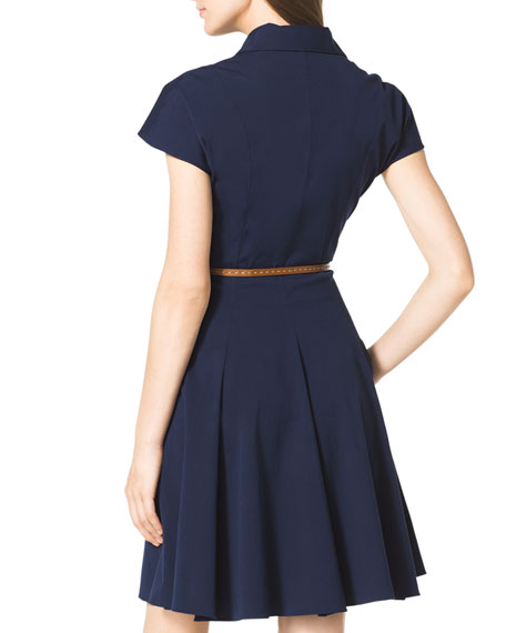 Stretch-Cotton Shirtdress