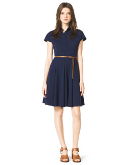 Michael Kors  Stretch-Cotton Shirtdress