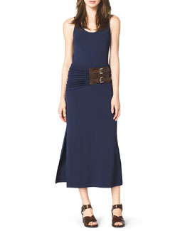 Michael Kors  Belted A-Line Jersey Tank Dress