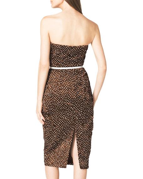 Strapless Polka-Dot Dress