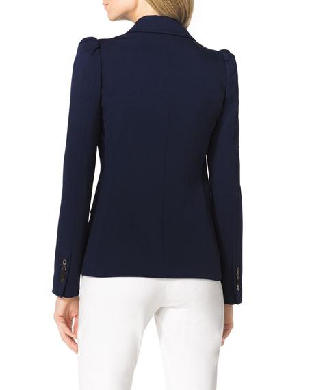 Puff-Shoulder Wool Blazer