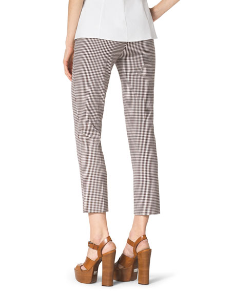 Check Stretch-Cotton Skinny Pants