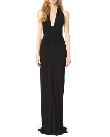 Matte Jersey Halter Gown