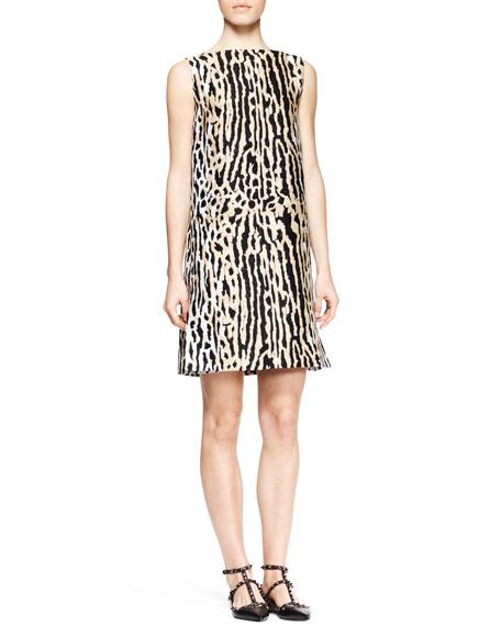 Ocelot Brocade Shift Dress