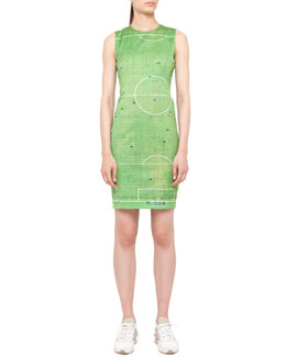 Akris punto Soccer Field Printed Dress, Green