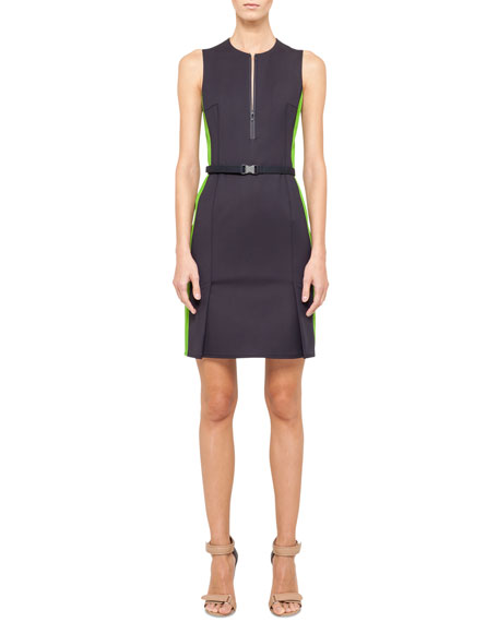 Two-Tone Sheath Dress, Navy