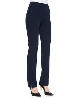 Donna Karan Slim Split-Cuff Pants