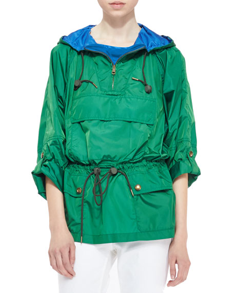 Packaway Pullover Jacket, Dark Pigment Green