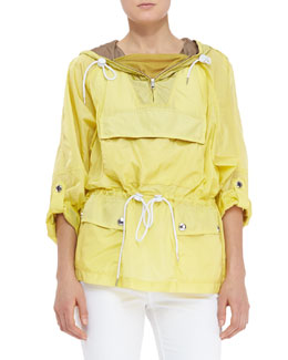 Burberry Brit Packaway Pullover Jacket, Daffodil