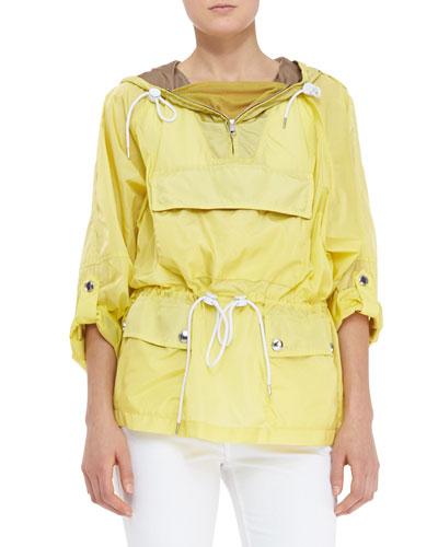Burberry Brit Packaway Pullover Jacket, Daffodil
