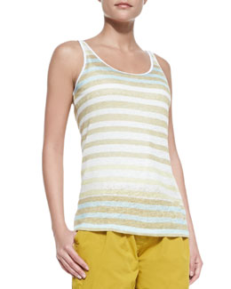 Burberry Brit Striped Tank Top, Trench