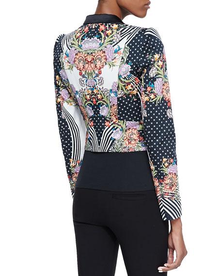 Just Cavalli Romantic Nature Print Jacket