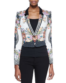 Just Cavalli Romantic Nature Print Jacket