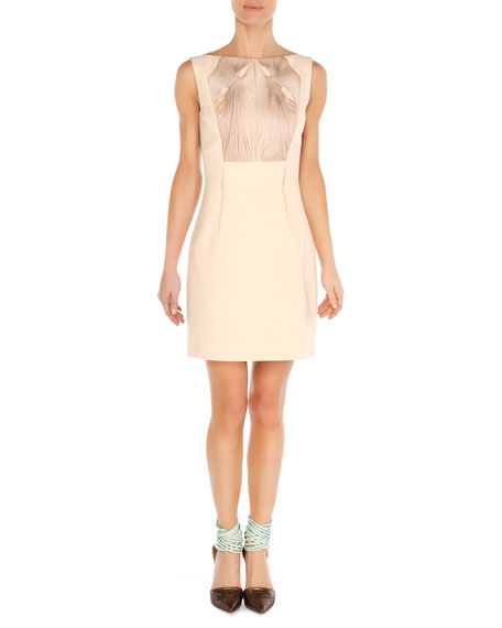 Twist-Ribbon Bateau Dress