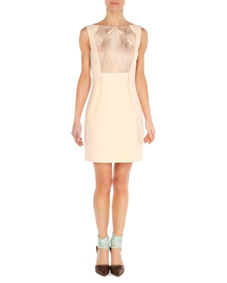 Twist-Ribbon Bateau Dress