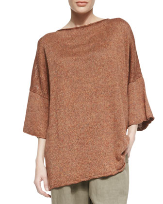 Squared Short-Sleeve Top, Gazpacho