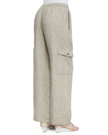 Drawstring Utility Trousers, Natural