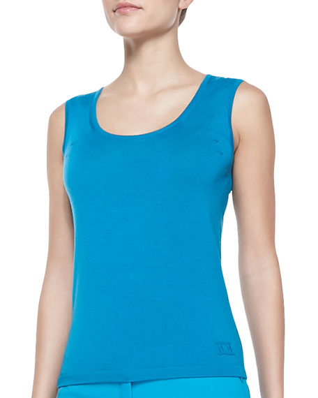 Knit Essential Tank, Lagoon