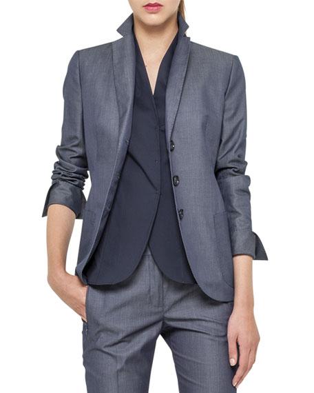 Sea Island Cotton Jacket, Denim Blue