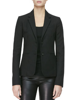 THE ROW Two-Button Textured Jacket