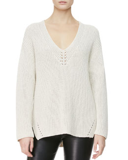 THE ROW Neck-Detail Knit Sweater