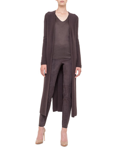 Akris Belted Cashmere Cardigan Duster