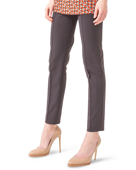 Melissa Techno Stretch Slim Pants, Coach Marron
