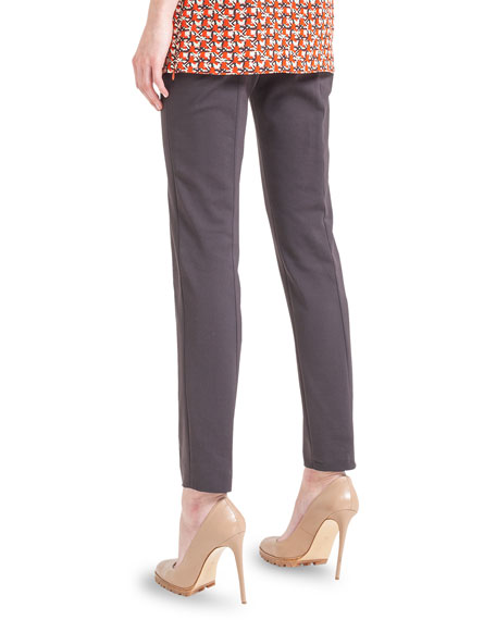 Melissa Techno Stretch Slim Pants, Coach Marron