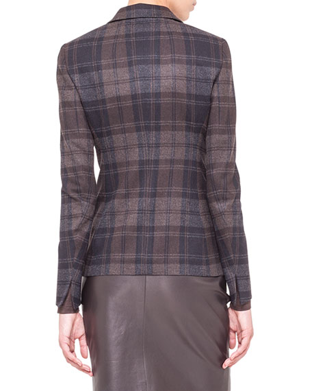 Plaid Flannel Hook-Front Jacket