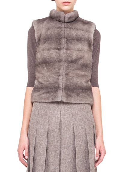 Reversible Mink Fur and Cashmere Vest