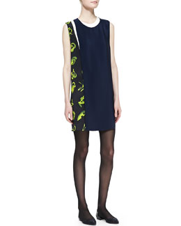 3.1 Phillip Lim Sleeveless Print-Paneled Shift Dress