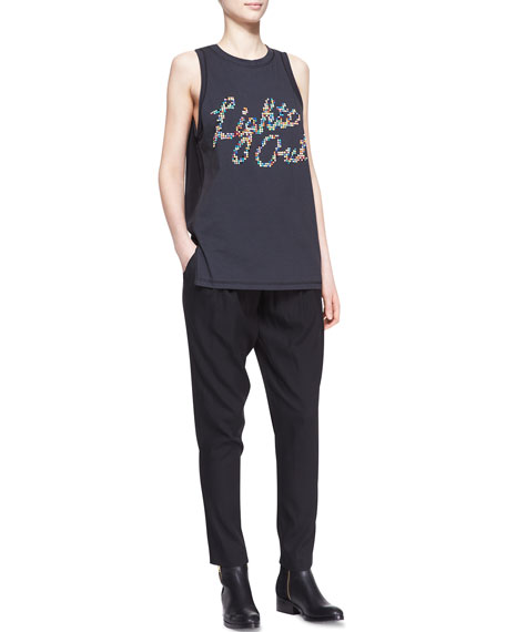 Pull-On Draped Pocket Trousers