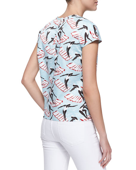 Swimming Ladies Short-Sleeve Tee