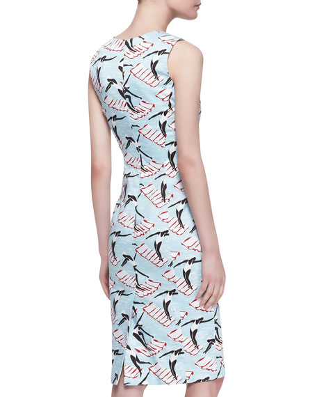 Swimming Ladies Sheath Dress