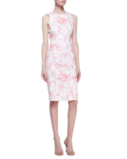 Carolina Herrera Marilyn Toile Sheath Dress