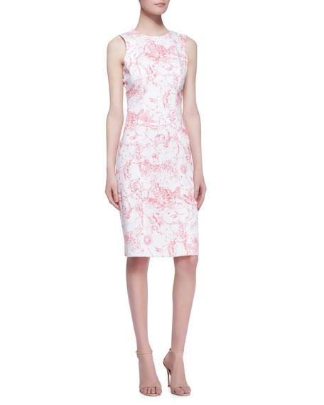 Marilyn Toile Sheath Dress